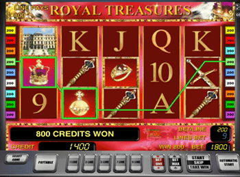 Royal Treasures с бонусами в Вулкане