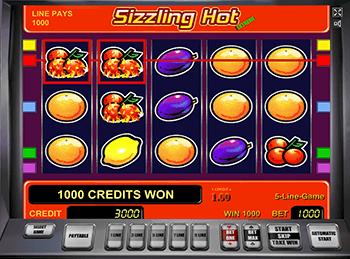 Игровые автоматы на деньги Sizzling Hot